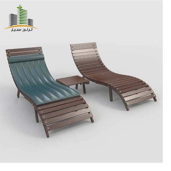 تخت کنار استخری و صندلی کنار استخری