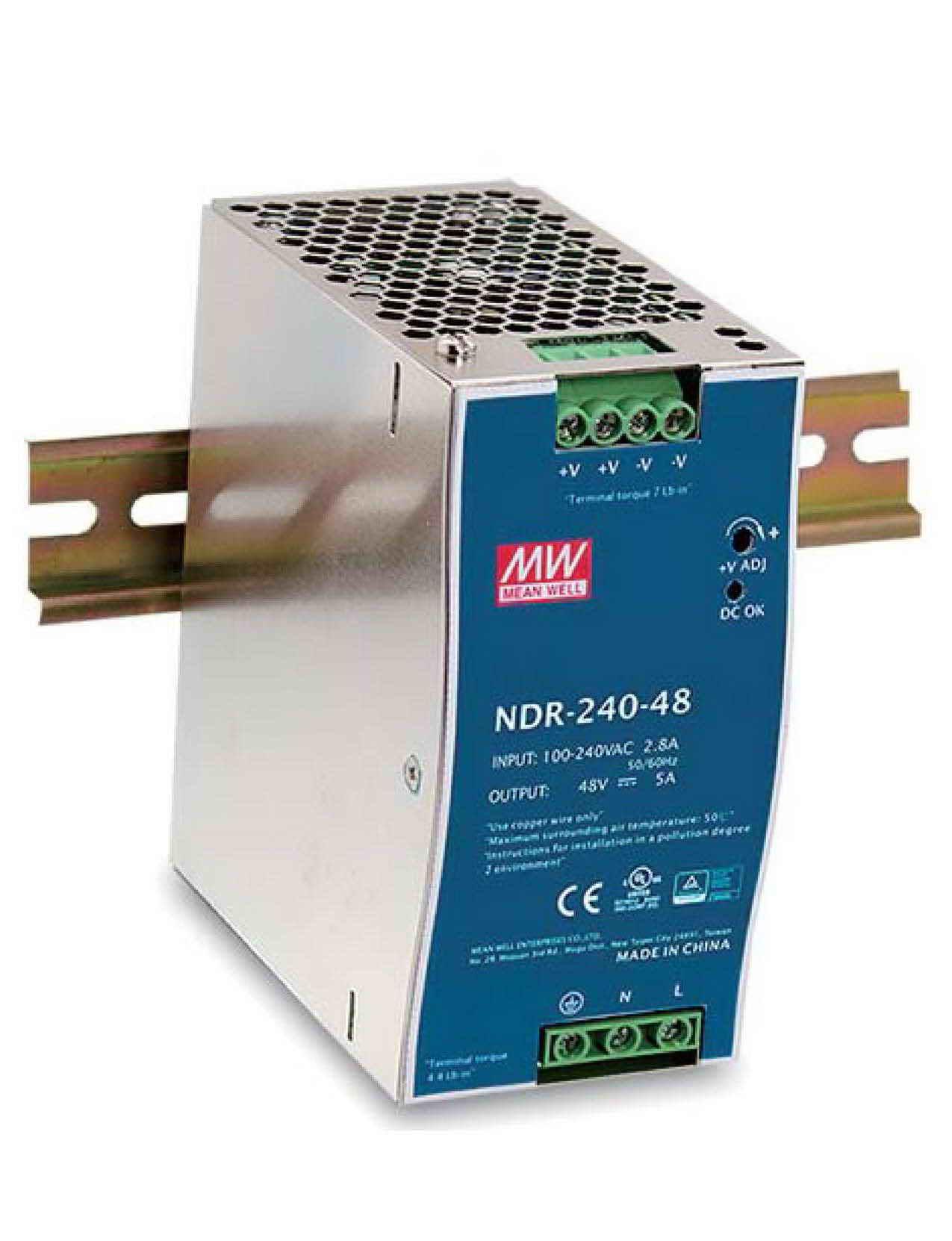 NDR-240، منبع تغذیه ریلی مینول 240 وات، NDR-240-24، NDR-24