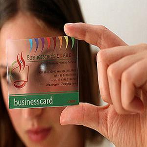 چاپ کارت ویزیت شفاف و شیشه ای گنجینه