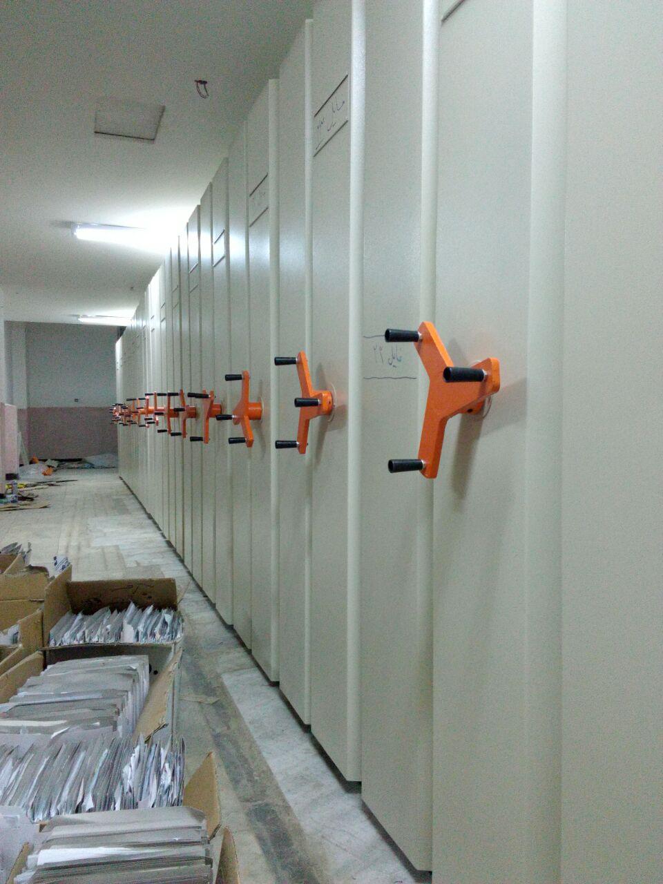 سیستم بایگانی ریلی |قفسه ریلی اداری کارسیس|تولید بایگانی ریلی