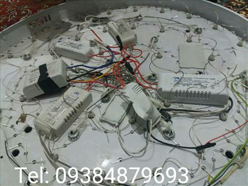 نصب و تعمیر لوستر ال ای دی LED نصب ریموت کنترل روی لوستر چراغ معمولی