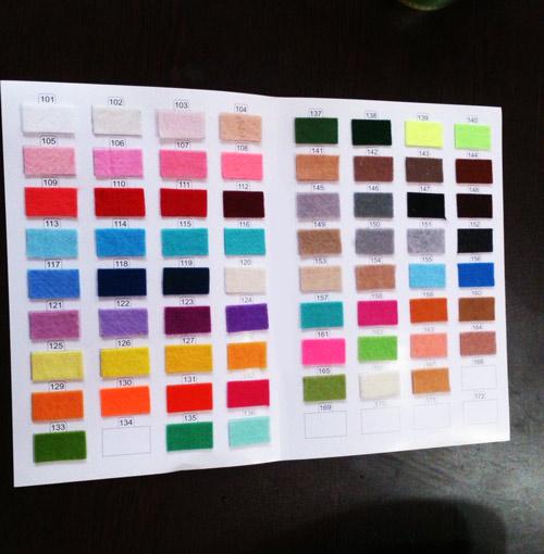 پارچه نمدی رنگی فروش عمده و جزیی