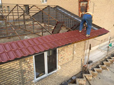 اجرای آردواز و سقف شیب دار ویلا و سوله و ... 021-5