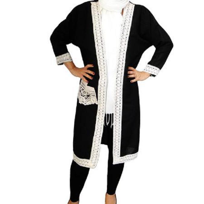 مانتو مشکی اسپرت شانتون مدل رعنا(فروشگاه جهان خرید)