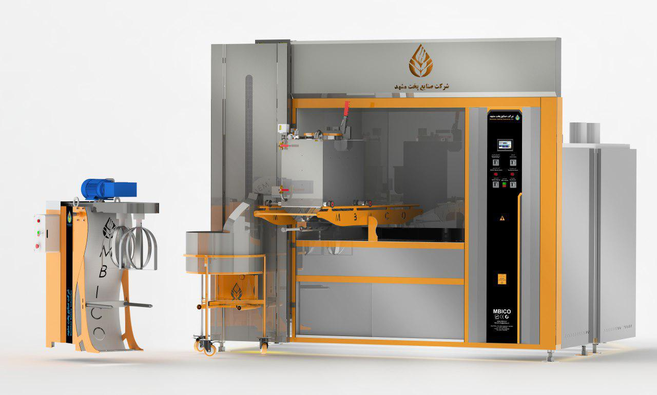 دستگاه تمام اتوماتیک تولید نان سنگک