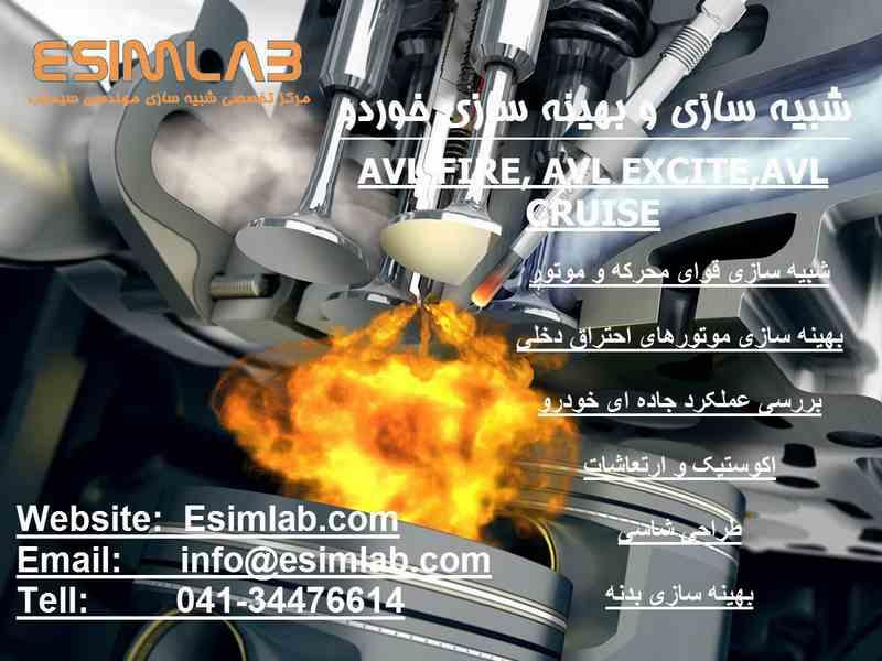 آموزش نرم افزار مهندسی AVL و انجام پروژه های صنعتی و تحقیقاتی شبیه سازی و بهینه سازی خودرو