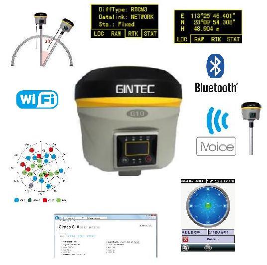 گیرنده GNSS ایستگاهی GINTEC مدل G10