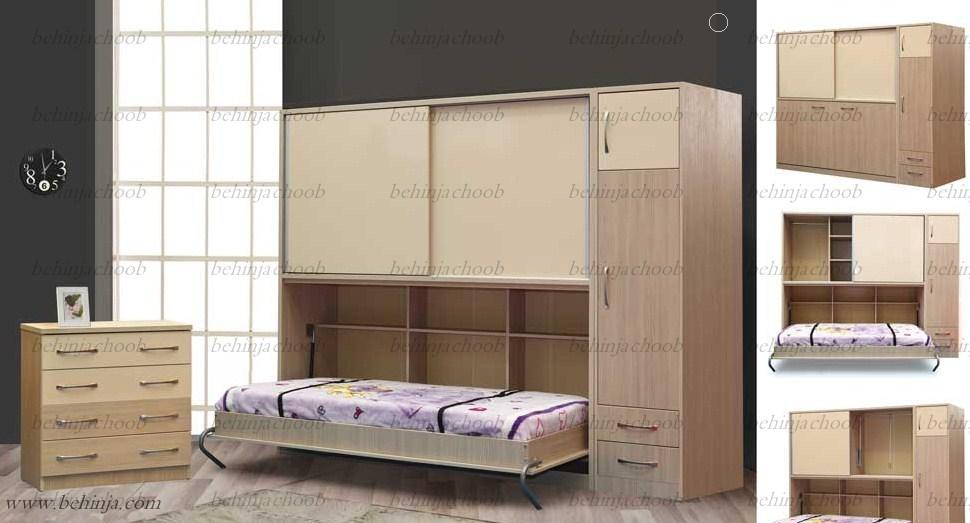 تختخواب تاشو دیواری|تخت تاشو|بهین جا|09126183871
