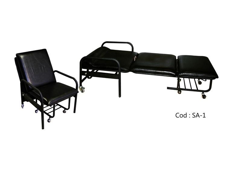 صندلی تختخوابشو|صندلی همراه بیمار|صندلی تاشو بیمارستانی|09126183871