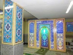 محراب چوبی نمازخانه