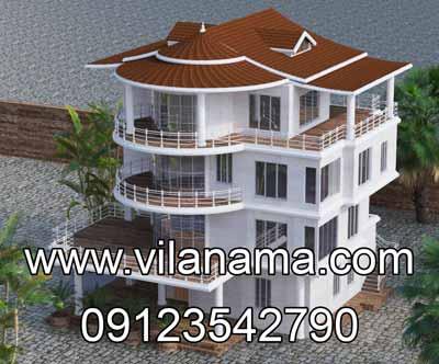 طراحی سه بعدی سقف ویلا، طراحی سقف، اجرای سقف شیبدار