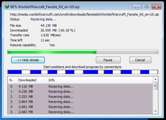 دانلود فایل های حجیم