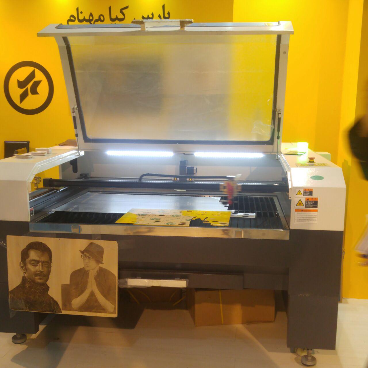 دستگاه لیزر برش و حکاکی چوب و چرم و پلکسی (غیر فلزات) بیوند لیزر و xi لیزر