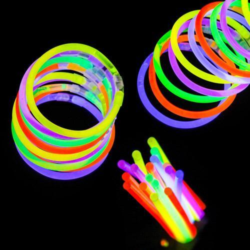 دستبند نورانی شب تاب بسته 6 عددی (فروشگاه جهان خری