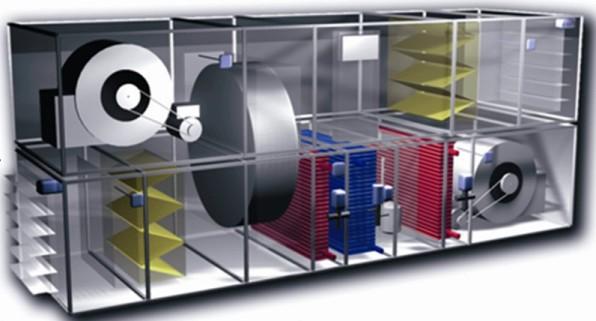 سیستم کنترل هوشمند هواساز هایژنیک ویژه صنایع دارویی و بیمارستانی