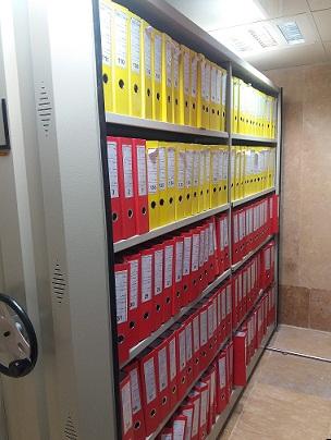 کمد بایگانی ریلی برای نگهداری اسناد