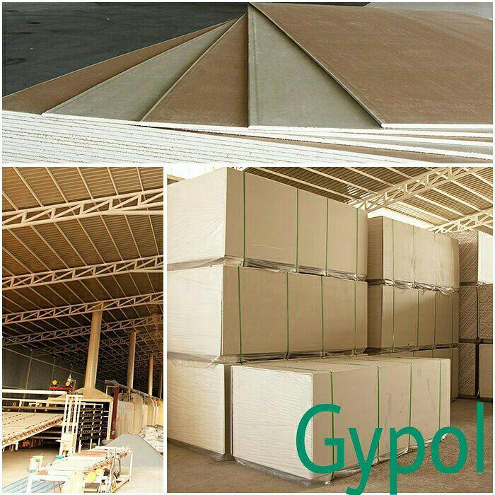 شرکت مروارید بندر پل تولیدکننده پانل های گچی و تایل گچی روکش PVC با برند (Gypol