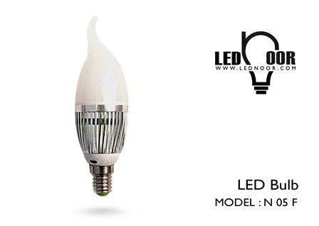 فروش لامپ شمعی 5 وات ال ای دی نور