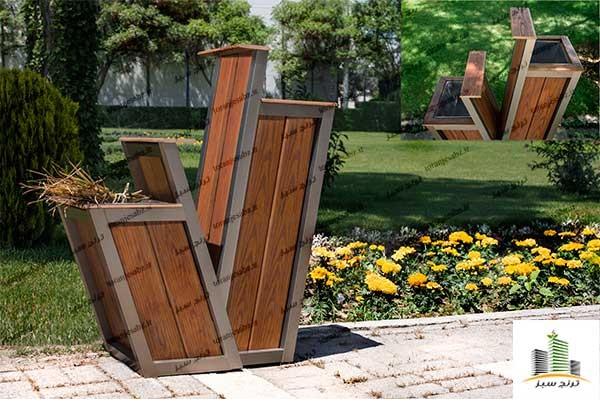 سطل زباله پارکی و سطل زباله فلزی