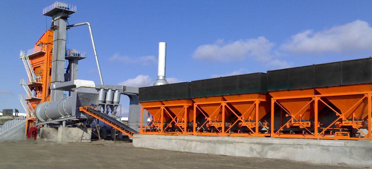 کارخانه آسفالت با ظرفیت تولید 80 الی 200 تن در ساعت