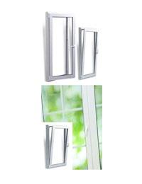 پنجره دو جداره دو حالته upvc