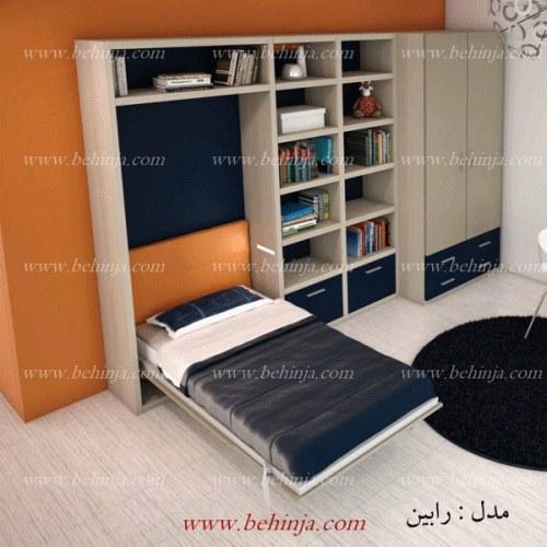 مدل های تختخواب تاشو|انواع تخت دیواری|بهینجا|09126183871
