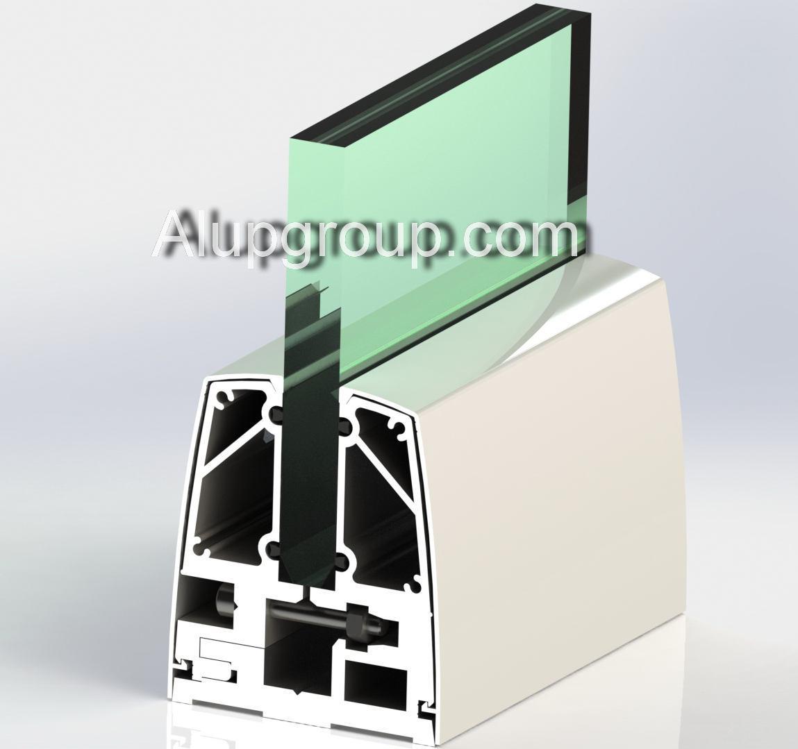 نرده ی شیشه ایی - آلومینیومی