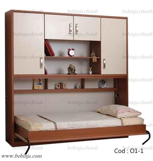 تخت خواب افقی تاشو|تخت افقی دیواری|بهین جا|09126183871