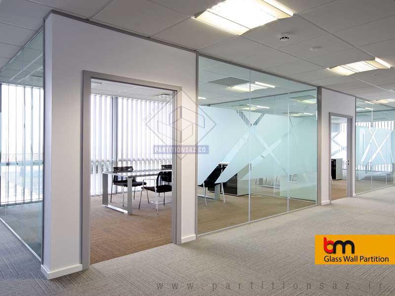 پارتیشن شیشه سکوریت bm