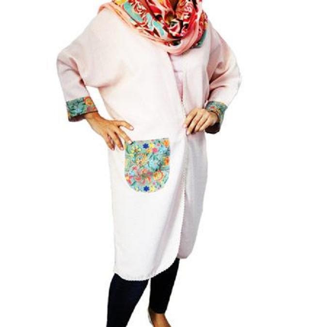 مانتو عبایی پارچه شانتون طرح سنتی(فروشگاه جهان خرید)