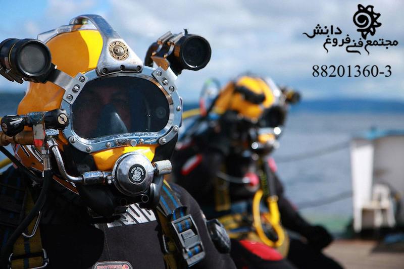 آموزش غواصي صنعتي – جوشکاری و برشکاری زیر آب – عکاسی و فیلمبرداری زیر آب